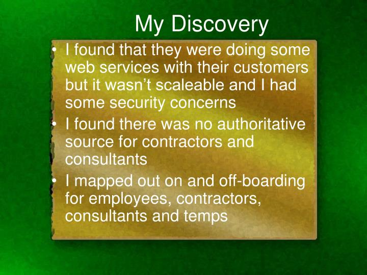 My Discovery