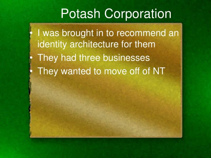 Potash Corporation