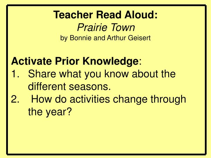 Teacher Read Aloud: