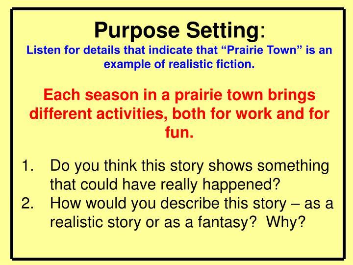 Purpose Setting