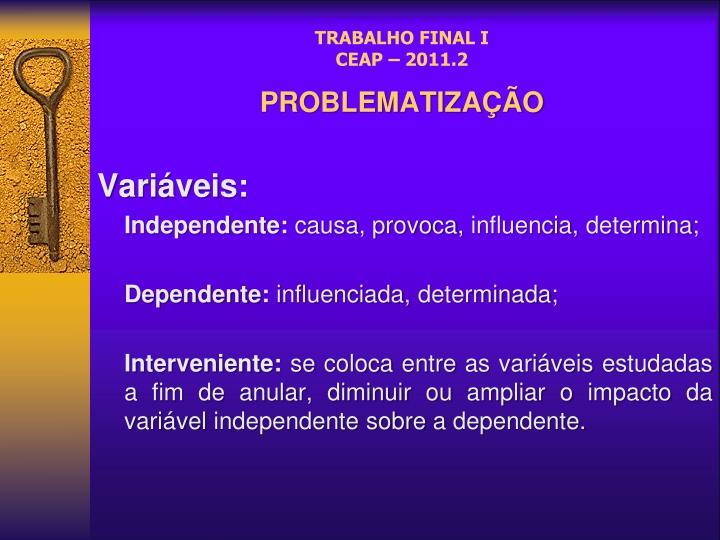 TRABALHO FINAL I