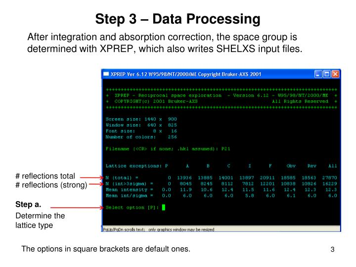 Step 3 data processing
