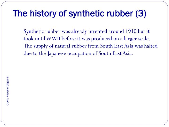 The history of synthetic rubber (3)