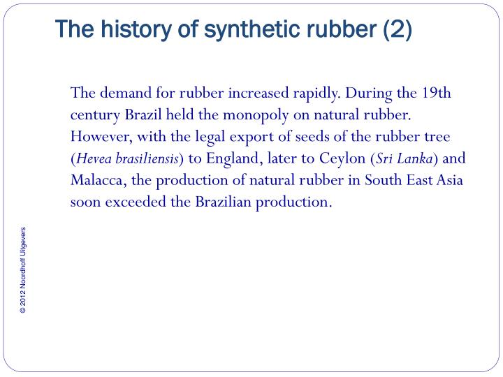 The history of synthetic rubber 2