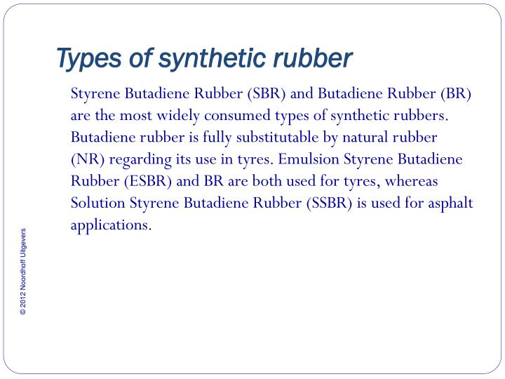 Types of synthetic rubber