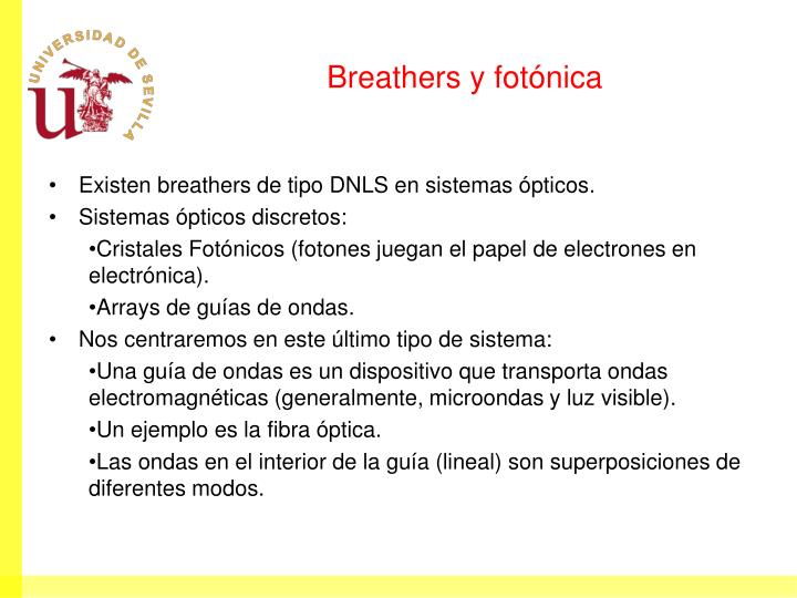 Breathers y fotónica