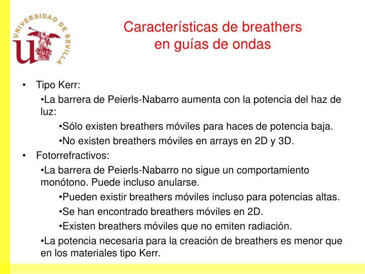 Características de breathers