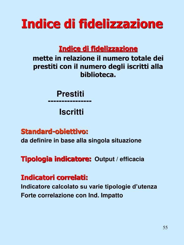 Indice di fidelizzazione