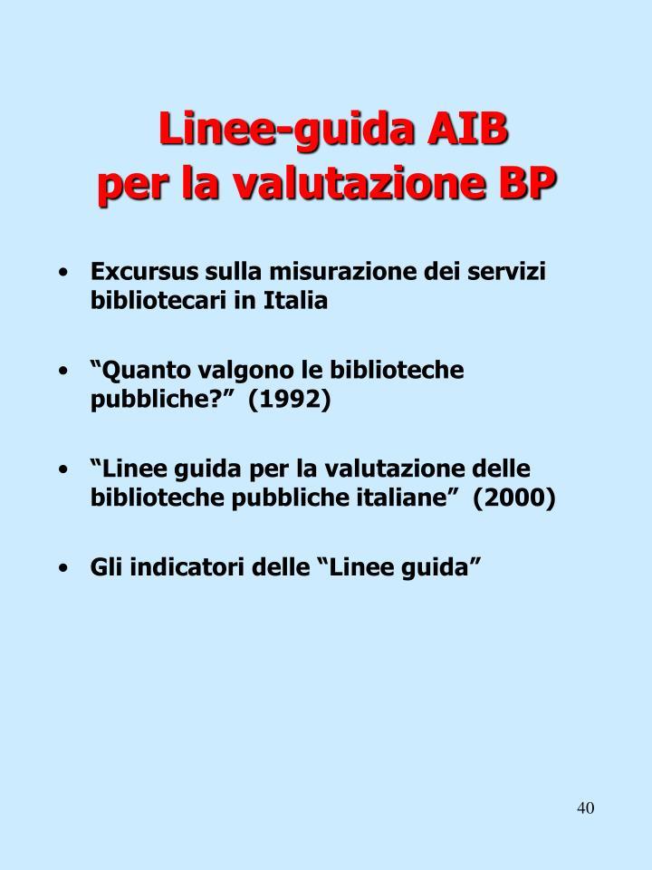 Linee-guida AIB