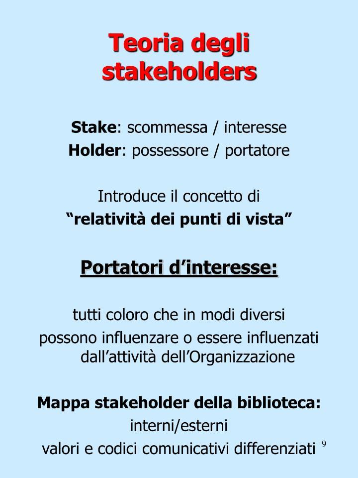 Teoria degli stakeholders