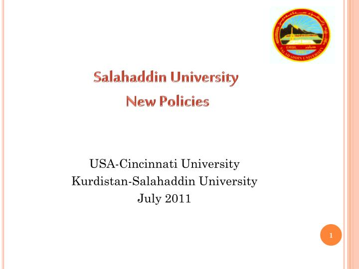 Salahaddin university new policies