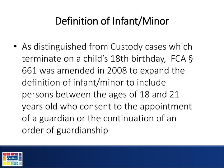 Definition of Infant/Minor