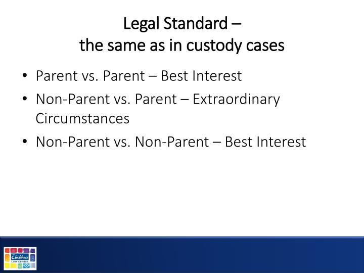 Legal Standard –