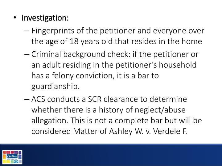 Investigation: