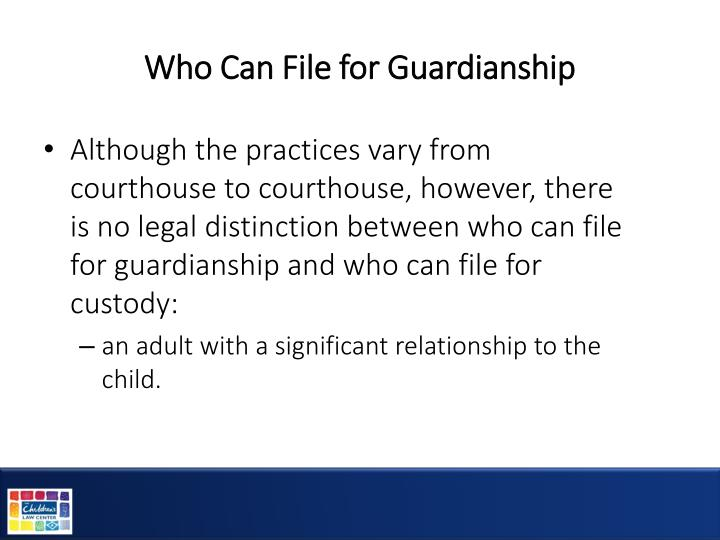 Who Can File for Guardianship