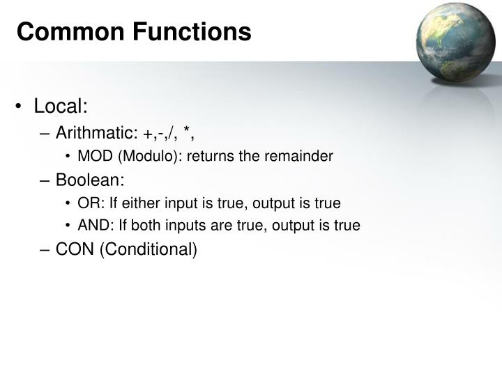 Common Functions