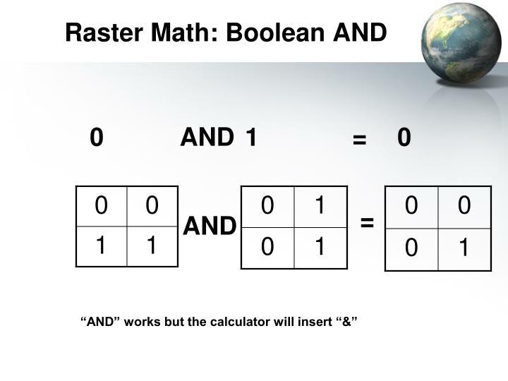 Raster Math: Boolean AND