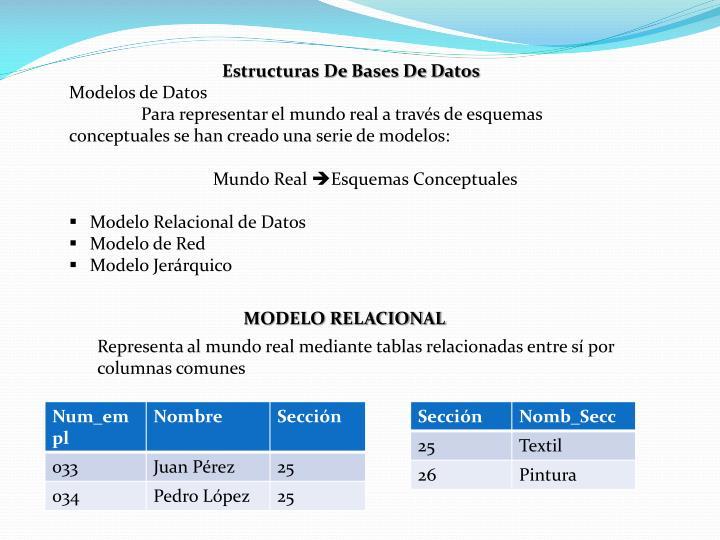Estructuras De Bases De Datos