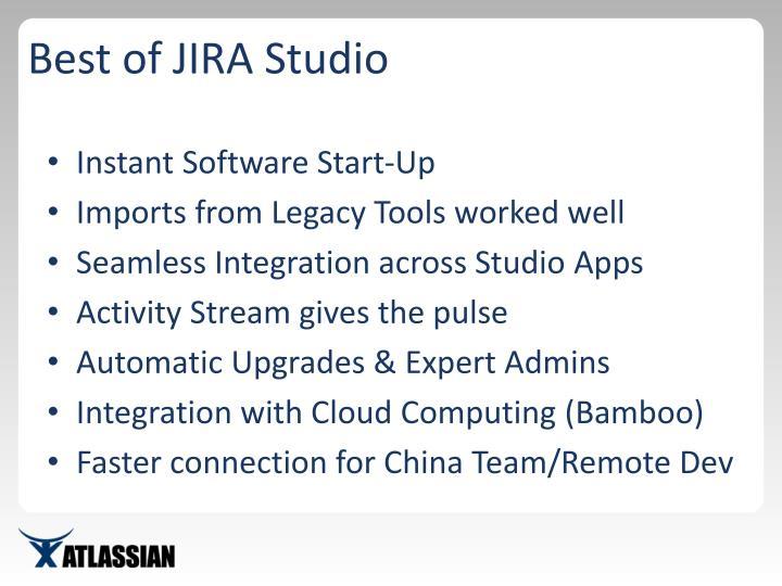 Best of JIRA Studio