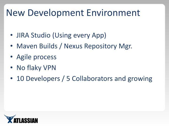 New Development Environment