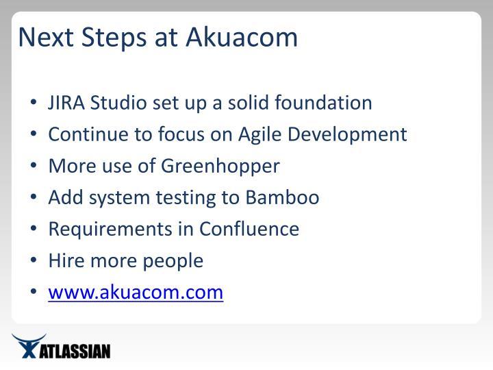 Next Steps at Akuacom
