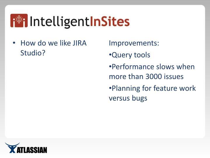 How do we like JIRA Studio?