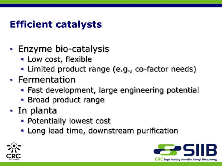 Efficient catalysts