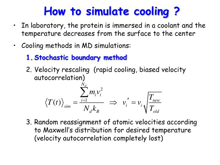 How to simulate cooling ?
