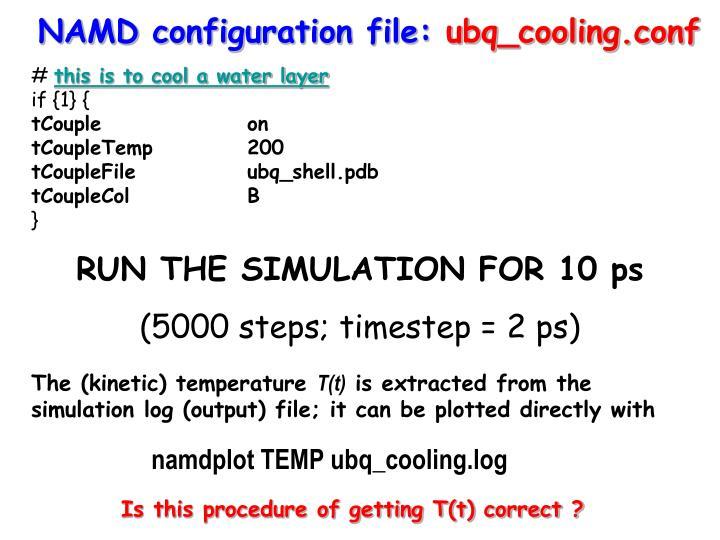 NAMD configuration file: