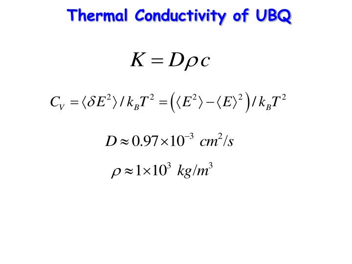 Thermal Conductivity of UBQ