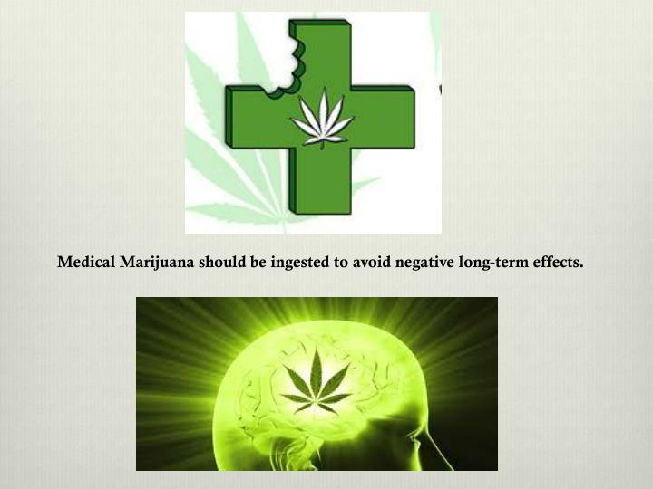 Medical Marijuana should be ingested to avoid negative long-term effects.