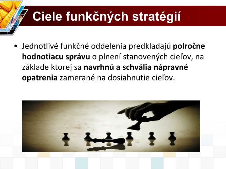 Ciele funkčných stratégií