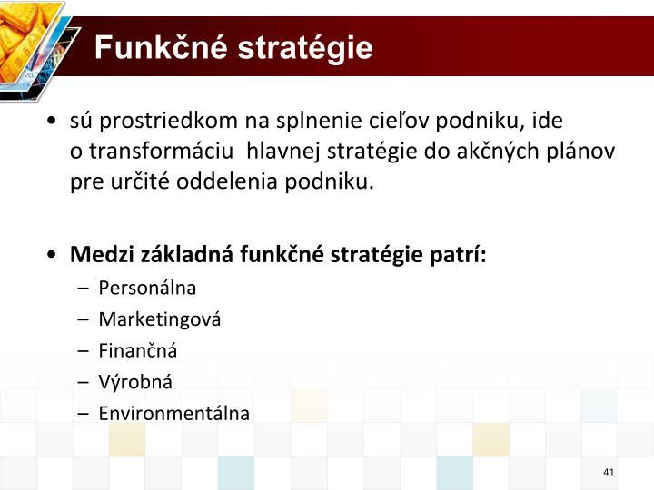 Funkčné stratégie