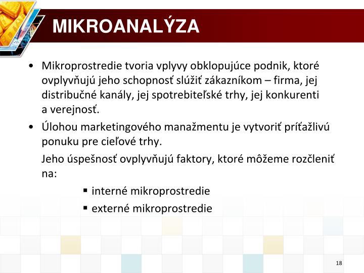 MIKROANALÝZA