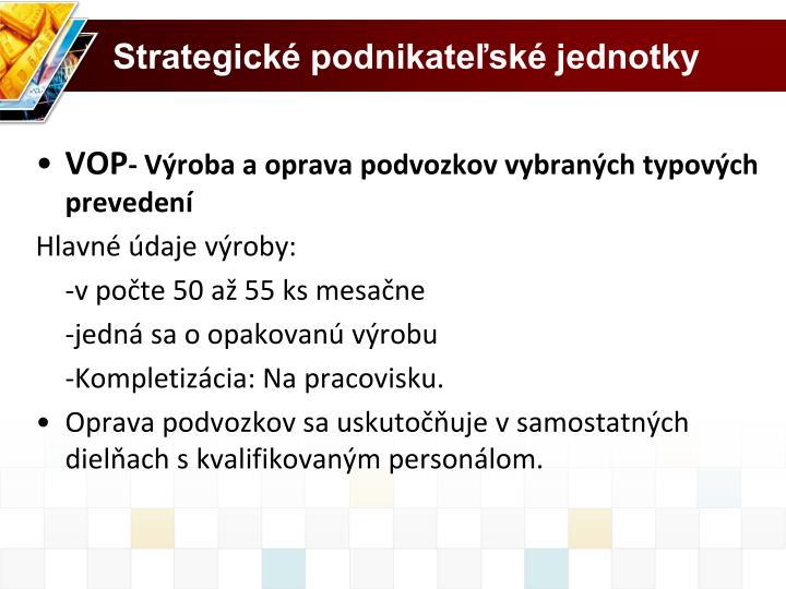 Strategické podnikateľské jednotky