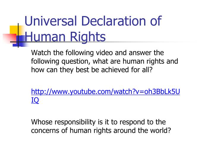 Universal Declaration of
