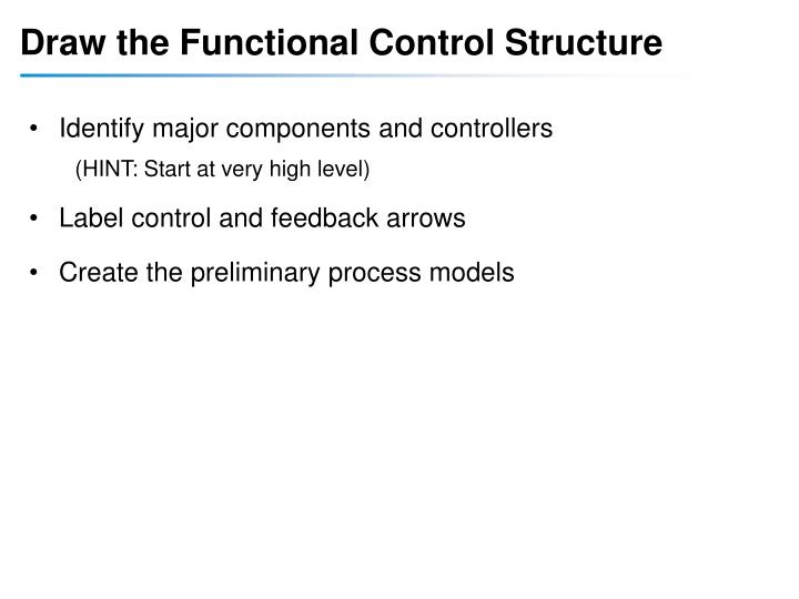 Draw the Functional Control Structure