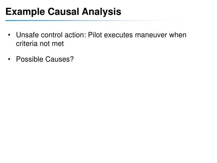 Example Causal Analysis