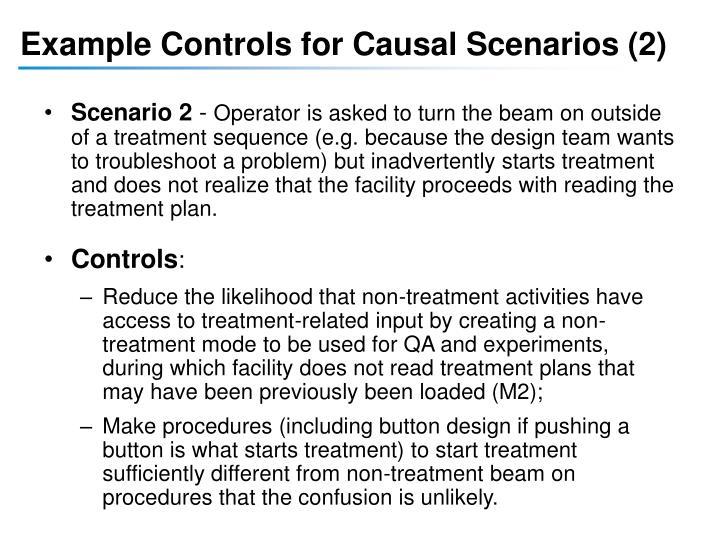 Example Controls for Causal Scenarios (2)
