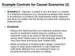 example controls for causal scenarios 2