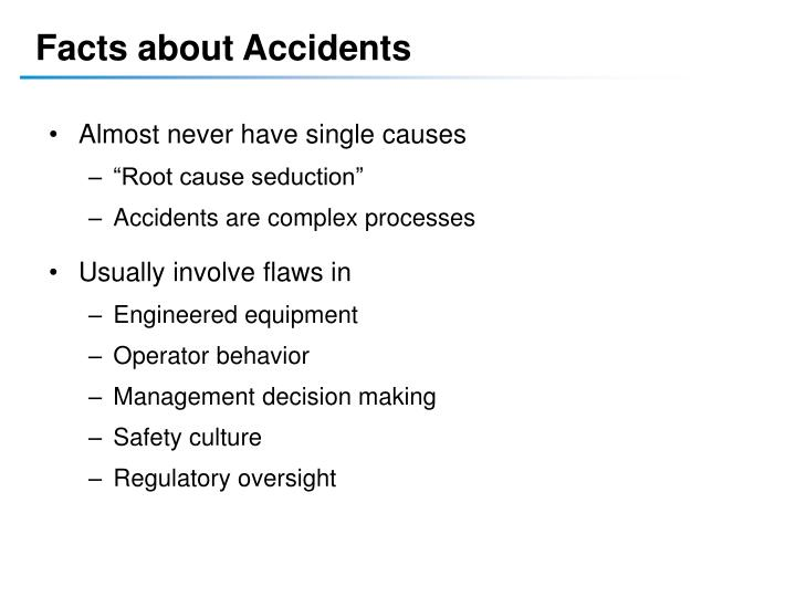 Facts about Accidents