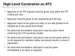 high level constraints on atc