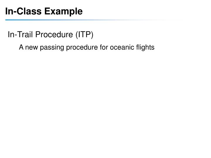 In-Class Example