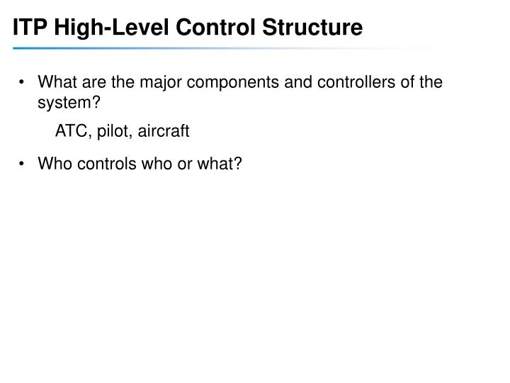 ITP High-Level Control Structure