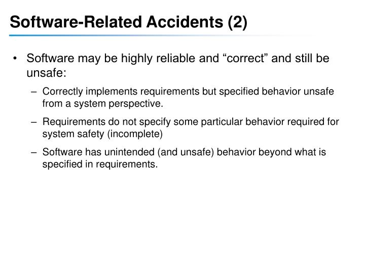 Software-Related Accidents (2)