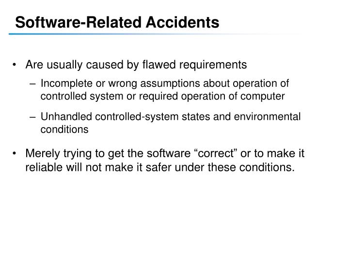 Software-Related Accidents