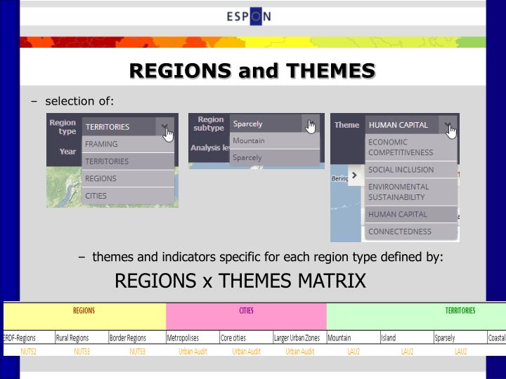 REGIONS and THEMES