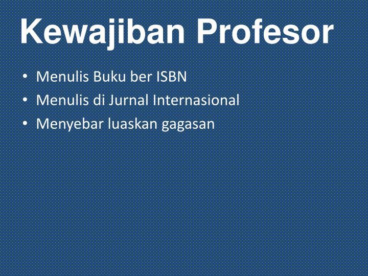 Kewajiban Profesor