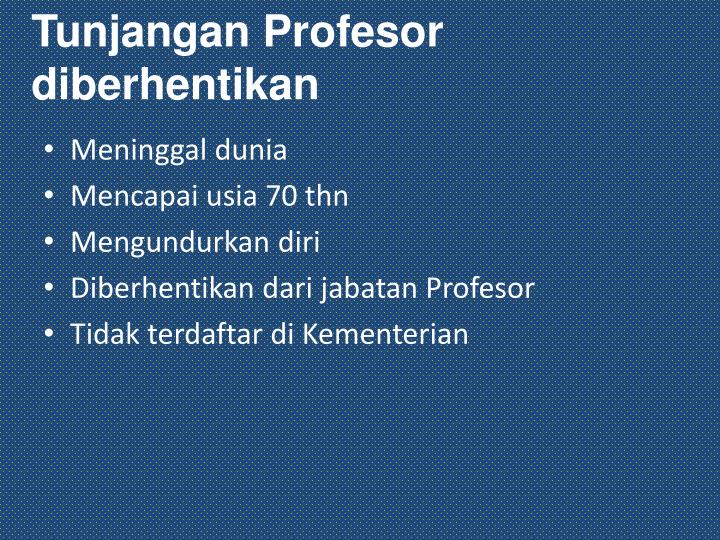 Tunjangan Profesor diberhentikan
