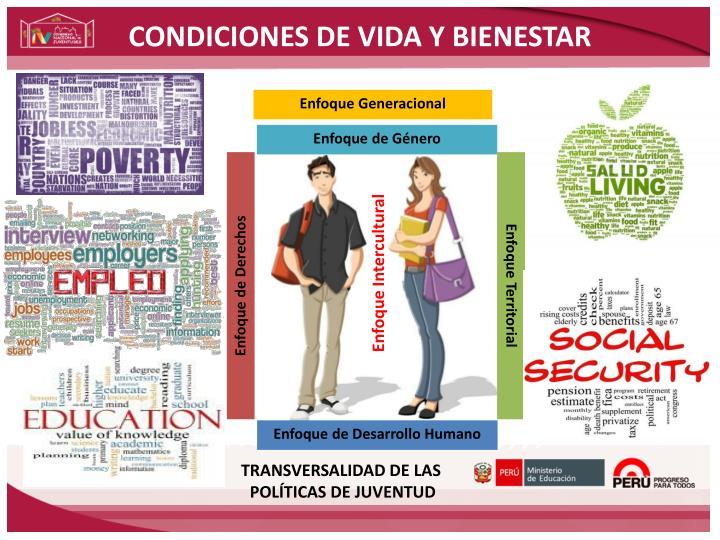 CONDICIONES DE VIDA Y BIENESTAR
